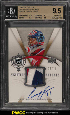 2007 The Cup Signature Carey Price ROOKIE RC AUTO PATCH /75 BGS 9.5 GEM (PWCC)