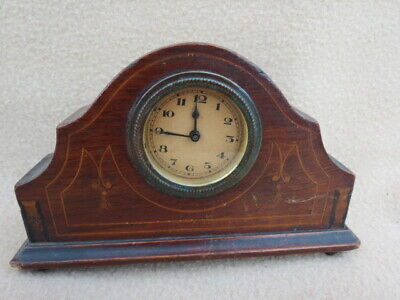 Small Antique/Vintage 30 Hour Clock For Spares Or Repair