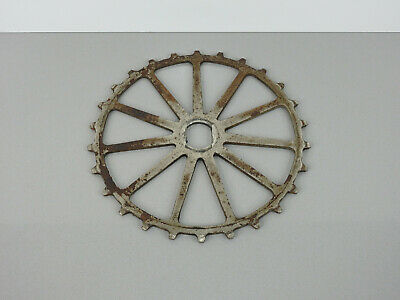 "Antique 1900s INDIAN BICYCLE 8.5"" SPROCKET Chainring GEAR Old Wooden Wheel Bike"