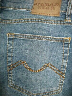 Urban Star Mens Relaxed Fit Straight Leg  Jeans Size  36 X 32