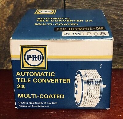 Pro SLR Multi-Coated Automatic Tele 2X Converter For Olympus OM ~New Old Stock~