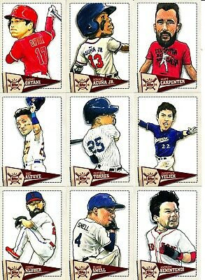 2019 Topps Big League - STAR CARICATURES INSERTS - U Pick From List