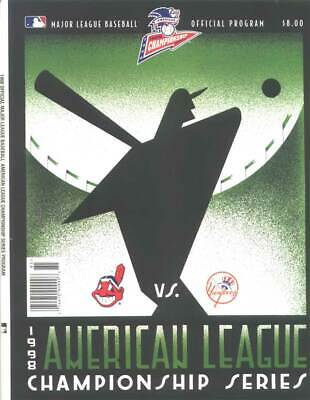 MLB ALCS 1998 New York Yankees Cleveland Indian Program Sports Collectibles Rare