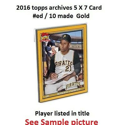 JOSE BAUTISTA #249 BLUE JAYS 2016 Topps Archives 1991 GOLD Vers 5x7 #ed/10 made
