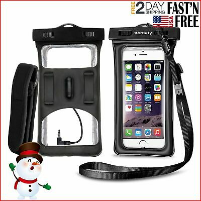 Waterproof Phone Pouch FLOATABLE PHONE CASE With Armband Audio Jack