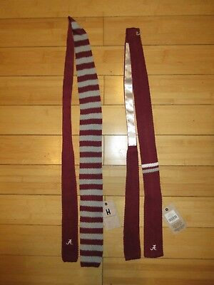 3e52a1d5f9f01 University of Alabama Crimson Tide 1950s Vintage Style Retro Knit Ties NWT