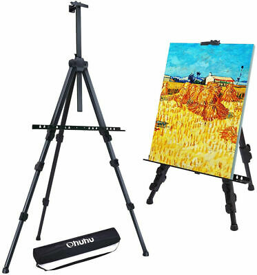 Easel Stand, Ohuhu Artist Easels For Display, Aluminum Metal Tripod Field Easel