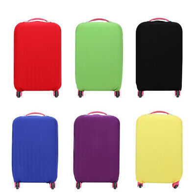 Solid Color Luggage Cover Trolley Case Travel Dustproof Elastic Suitcase Cover