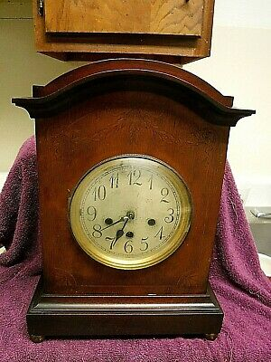 antique junghans westminster chimes clock fancy mahogany case