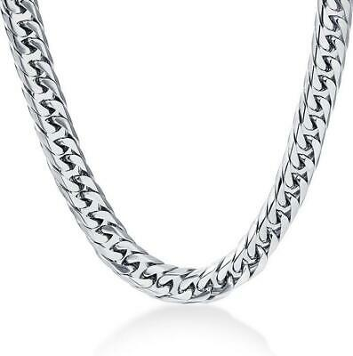 Hip Hop Men's Boy Stainless Steel Silver Hexagon Curb Chain Necklace Jewelry 24""