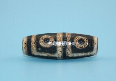 42*14 mm Antique Dzi Agate old 4 eyes Bead from Tibet **Free shipping**