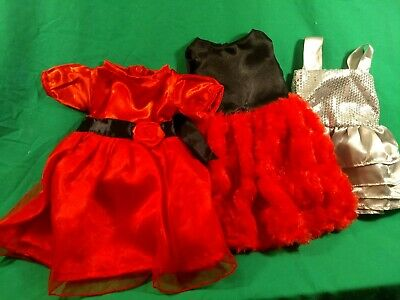 """Fits 18"""" American Girl Madame Alexander Doll Clothes dresses (3) cute!"""