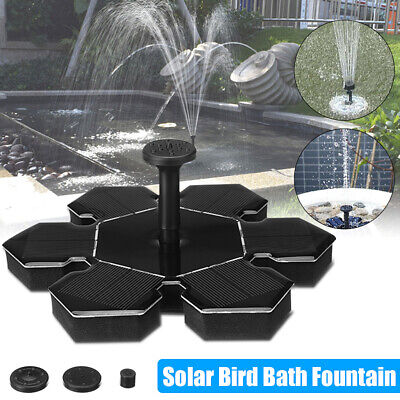 Solar Power Water Fountain Floating Bird Bath Watering Submersible Pump