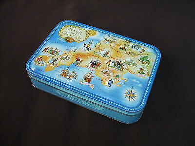 Vintage Horner's Devon & Cornwall Annotated Map Confectionery Tin c 1950s