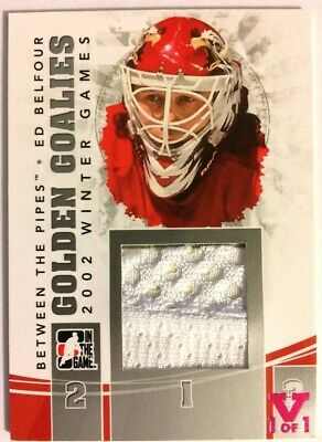 2010-11 Between The Pipes Golden Goalies Jersey Silver Ed Belfour Vault Pink 1/1