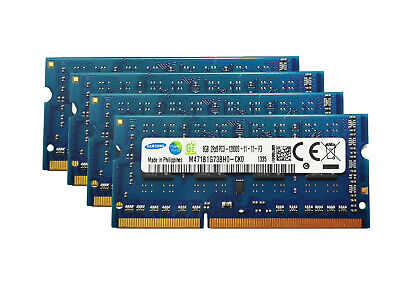For SAMSUNG 32GB 4x8GB PC3-12800 Laptop SODIMM DDR3 1600MHz 204pin 1.5V Memory