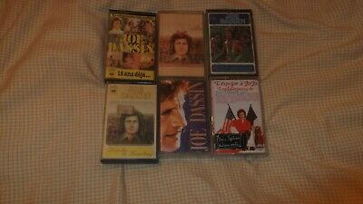 Lot De 6 K7 Cassettes   Audio De Joe Dassin