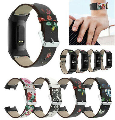 Replacement Bands Print Leather Strap Wristband Bracelet For Fitbit Charge 3 US