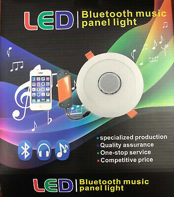 Downlight LED 18W con altavoz bluetooth Musica
