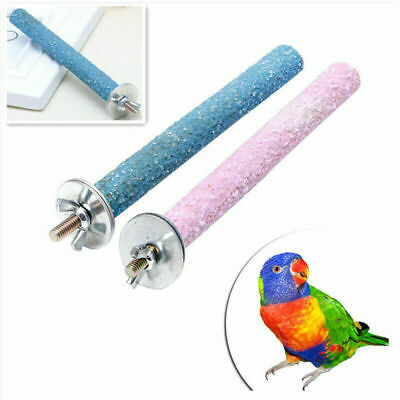 Colorful Pet Bird Parrot Chew Toys Paw Grinding Cage Stand Perches Budgie Rack
