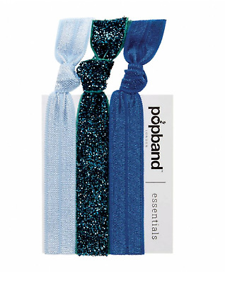 Popband Hairties Glitterball Blue Essentials Bobbles Bracelets