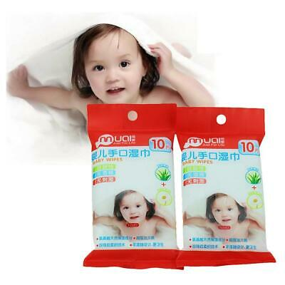 10pcs/1Pack Portable Baby Infants Wet Wipes Saliva Tissues Cleaning Wiping Wipes