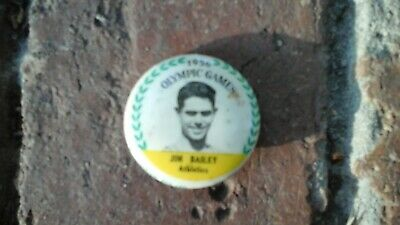 Melbourne Olympic Games 1956 Button Badge Jim Bailey