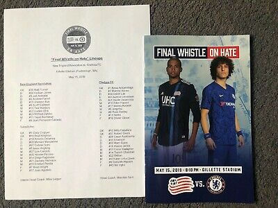 15/5/2019.OFFICIAL PROGRAMME+TEAMSHEET NEW ENGLAND REVOLUTION v CHELSEA BOSTON