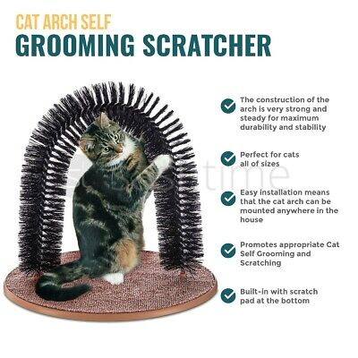 Pink 2 Pcs//Set Cat Self Groomer Brush Catnip-Wall Corner Mounted Massage Grooming Comb-Helps Prevent Hairballs and Controls Shedd /& Coming-Safe fortable with Catnip