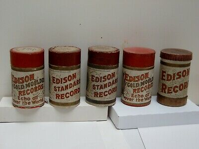5 Edison  2 Minute Cylinder Records