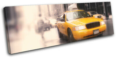 New York Yellow Taxi Cab City SINGLE CANVAS WALL ART Picture Print cit53