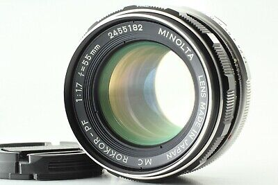 {EXC3} Minolta MC Rokkor PF 55mm f1.7 MF Lens MC MD Mount from Japan #011