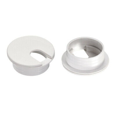 "Cable Hole Cover, 1-3/8"" Plastic Desk Grommet for Wire Organizer, 10 Pcs (White)"