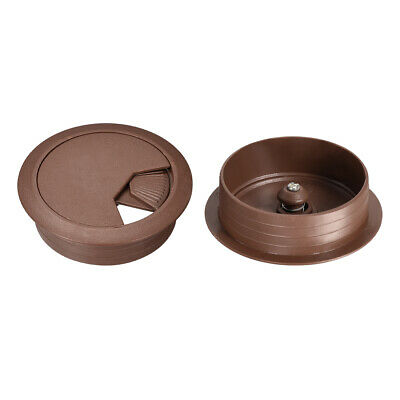 """Cable Hole Cover, 2-1/8"""" Plastic Desk Grommet for Wire Organizer, 20Pcs (Brown)"""
