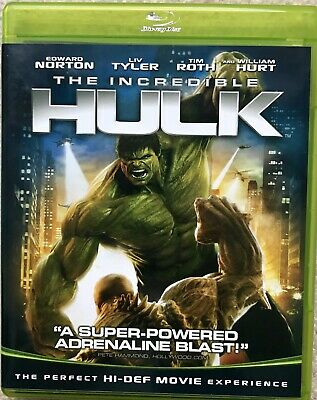 The Incredible Hulk Blu-ray NEW W/O Plastic. Priced CHEAP 2 SELL Take A PEEK!!!