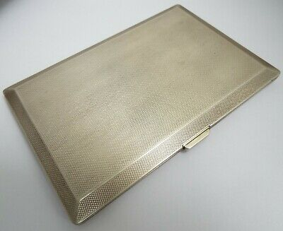 FAB CLEAN LARGE V HEAVY 203g ENGLISH ANTIQUE 1965 STERLING SILVER CIGARETTE CASE