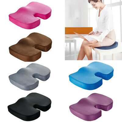Fashion Memory Foam Cushion Coccyx Orthopedic Pain Relief Chair Seat U Pillow UK