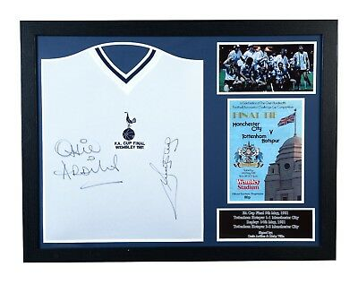 Framed Villa & Ardiles Signed Tottenham Hotspur 1981 Fa Cup Final Football Shirt