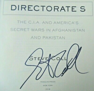 DIRECTORATE S by Steve Coll (2018) ~ SIGNED ~ First Edition, First Printing