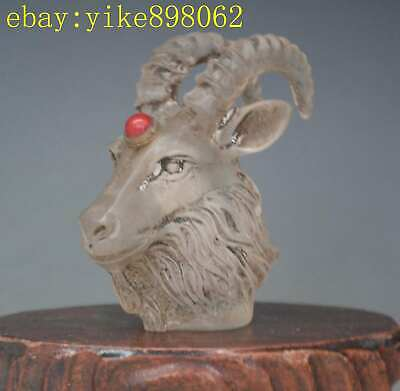 Exquisite Chinese Old glaze Hand carved lifelike sheep Snuff bottle