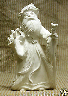 Ceramic Bisque Antique German Santa Gare Mold 1294 U-Paint Ready To Paint