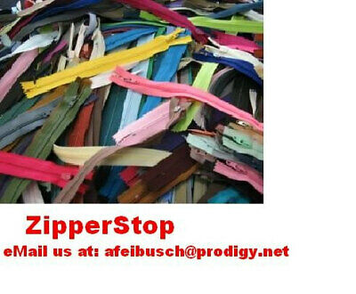 100 pcs 16 inch  Assorted Zippers - YKK - All Purpose - Assorted Colors
