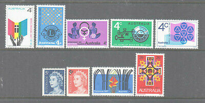 Australia 1967 Mint unhinged Year collection 9 stamps