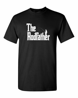 The Rodfather Shirt Funny Fishing T-Shirt Gift Dad Daddy Fathers Day Fish Tee