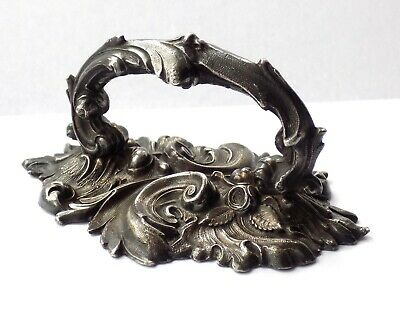 Antique Silver Plated Tureen Lid Handle.ornate Rococo Style. Good Paperweight.