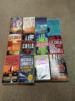 LEE CHILD,HARLAN COBEN,MICHAEL CONNELLY lot of 22 paperbacks
