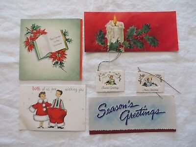 Vintage Hallmark Christmas Cards & Tags Lot of 12 Used with Writing  #7371