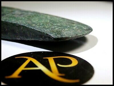 Very Fine English Middle Bronze Age Axe Head - Pig Tail Retention Terminal