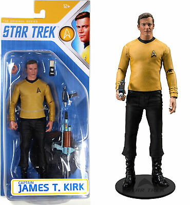 Star Trek Captain James T. Kirk Action Figure Mcfarlane Toys New