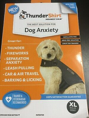 Thundershirt Dog Anxiety Calming Jacket XL Dogs Solid Gray HGXL-T01 #1189